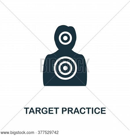 Target Practice Icon. Simple Element From Police Collection. Creative Target Practice Icon For Web D
