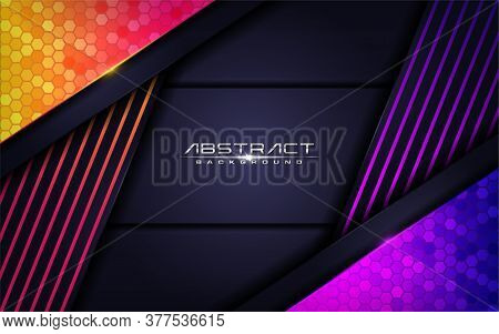 Modern Colorful Futuristic Background Design. Vector Graphic Illustration. Graphic Design Elements.