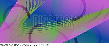 Fluid Geometric Abstract. Vivid Futuristic Shape Background. Colorful Business Pattern. Graphic Grad