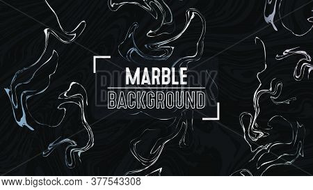 Marble Background. Creative Graphics With Abstract Acrylic Painted Waves. Liquid Paint Pattern.