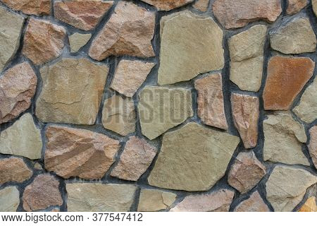 Limestone Texture. Wallpaper For Building Themes. Background With Rough Stone Surface. Horizontal Ph