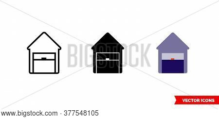 Depot Icon Of 3 Types. Isolated Vector Sign Symbol.