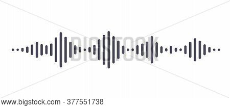 Dark Waves As Equalizer Isolated On White Background. Vector Illustration