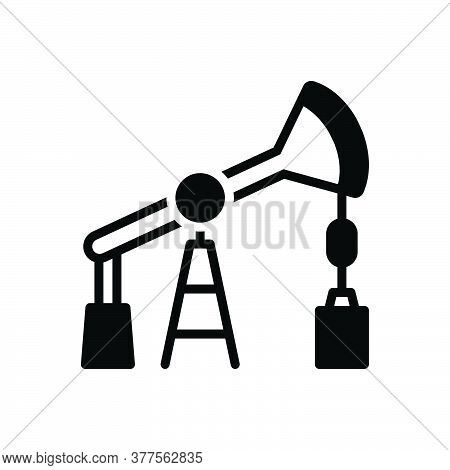 Black Solid Icon For Oil-pump Oil Pump Derrick Petrol Oilenergy Petroleum Producation Pipe Fuel