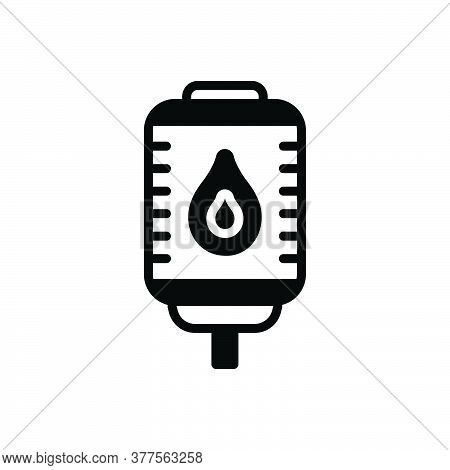 Black Solid Icon For Blood Hemophilia Health Treatment Blood-bag Donate Life-saving Bank Donation Ph