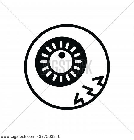 Black Solid Icon For Eyeball Eyesight Optometry Protection Pupil Retina Sight Spectrum Optical Glimm