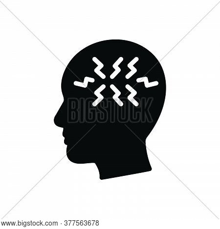 Black Solid Icon For Ptsd Post-traumatic-stress-disorder Symptoms Mental Health Anxiety-disorder She