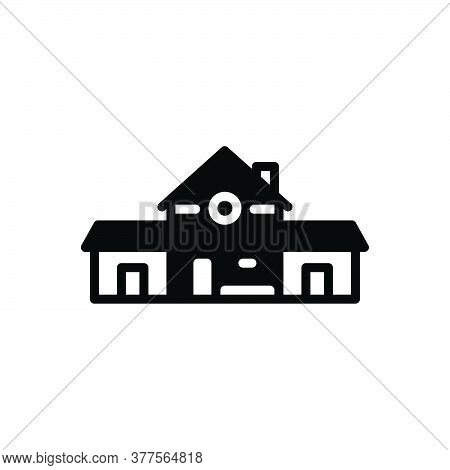 Black Solid Icon For Prefabricated Development Manufacture Plan Planning Structure System Architectu