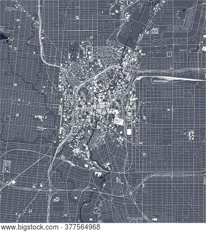 Map Of The City Of San Antonio, Texas, Usa