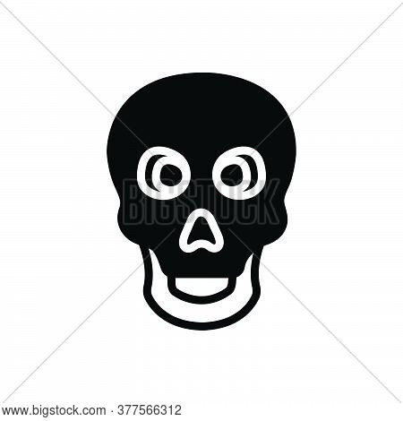 Black Solid Icon For Skeleton Bone Skull Danger Skeleton Poison Halloween Warning Scary