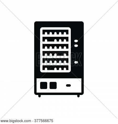Black Solid Icon For Vending-machine Vending Machine Merchandise Trading Appliances Automatic Drink