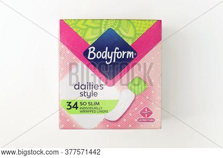 London / Uk - July 22 2020 - Bodyform Box Of Panty Liners