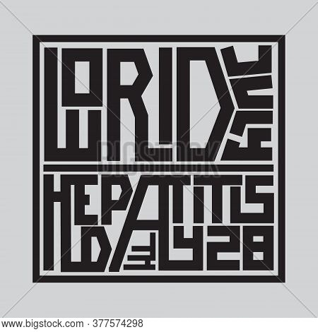 Happy World Hepatitis Day Background Template Use For Card Vector Design, With Minimalist And Modern