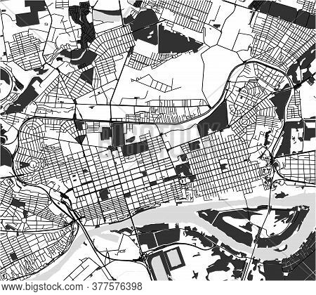 Map Of The City Of Rostov-on-don, Russia