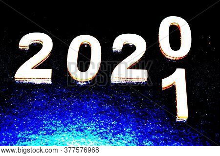 New Year 2020 Changing The Concept For 2021, Changing The Year.