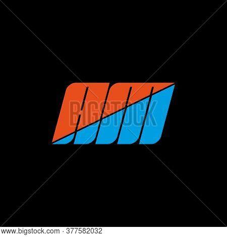 Am Letter Logo Design On Black Background. Am Creative Initials Letter Logo Concept. Am Icon Design.