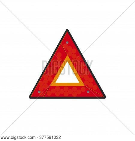 Emergency Stop Sign. Traffic Accident Sign. Stop On The Road Sign Of Help