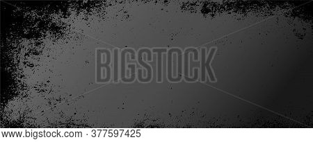 Black Chalkboard Background With Marbled Texture. Illustration.