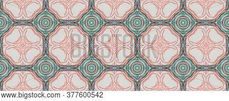 Portuguese Decorative Tiles. Boho Symmetry Illustration. Portuguese Decorative Tiles Background. Mar