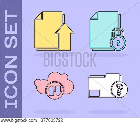Set Unknown Document Folder, Upload File Document, Cloud Download And Upload And Document And Lock I