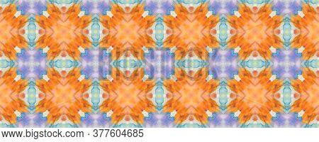 Portuguese Decorative Tiles. Arabesque Creamy Golden Motif. Portuguese Decorative Tiles Background.