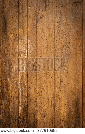 Closeup Detail Of Brown Wood Texture Background