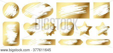 Scratch Cards. Lottery Game Gold Texture For Lucky Winning And Loser Scratching Tickets. Gambling, F