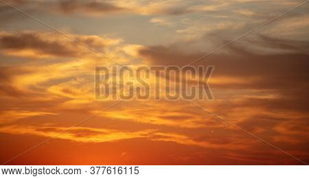 Sunrise, Sunset Clouds. Twilight, Dusk Cloudy Sky