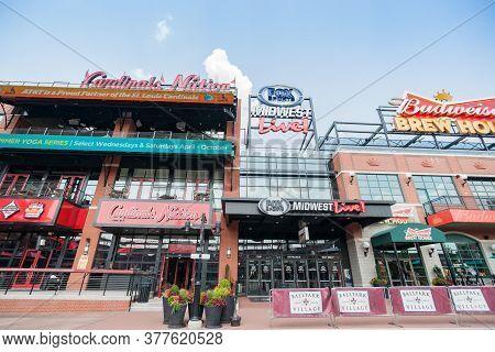 Saint Louis Usa - September 2 2015; Ballpark Village (bpv) Adjacent To Busch Stadium Home To St. Lou