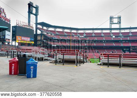 St Louis Usa - September 2 2015; Saint Louis Ballpark Village (bpv) Adjacent To Busch Stadium Home T