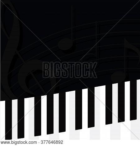 Musical Keyboard Image. Musical Insdtrument - Vector Illustration
