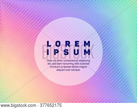 Energetic Presentation Holographic Gradient Vector Template. Abstract Wallpaper With Holo Texture. F