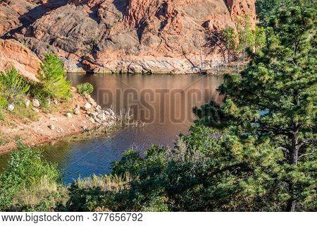 An Overlooking Landscape View Of Colorado Springs, Colorado