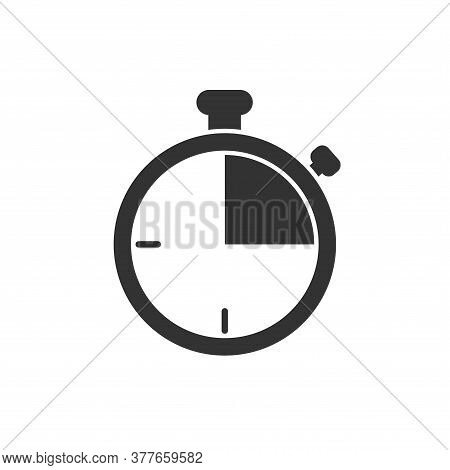 Stopwatch Icon Isolated On White Background. Stopwatch Icon Trendy And Modern Stopwatch Symbol For L