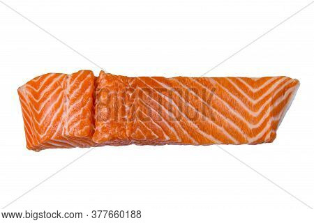 Fillet Of Salmon Fish Isolated On White Background