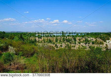 View On City Komsomolsk And River Dnieper