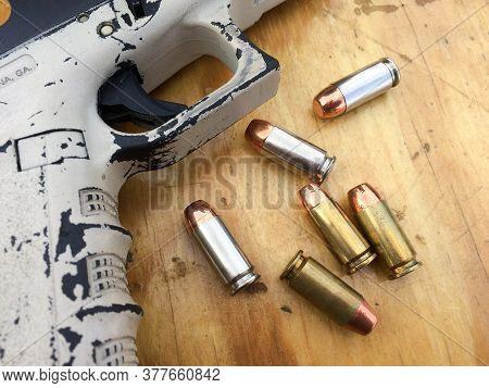 Unique Glock Handgun Firearm Pistol With Bullets From Us Marine