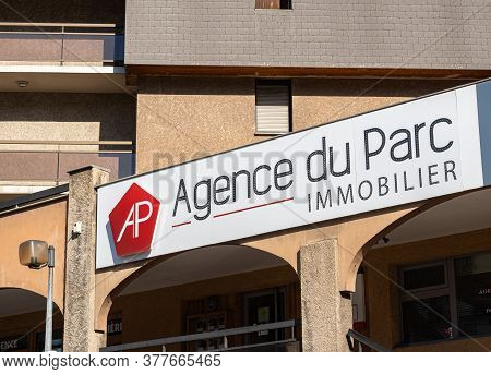 Briancon, France - July 7, 2020: Real Estate Agency Agence Du Parc In Briancon