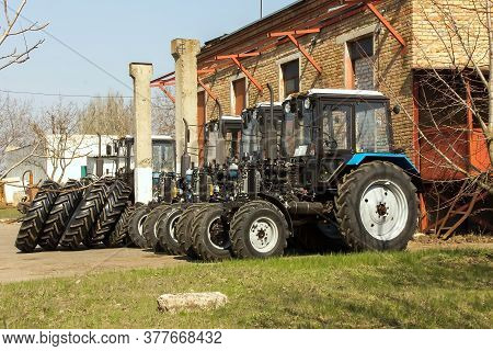 Tractor. Agricultural Machinery At The Assembly Plant.