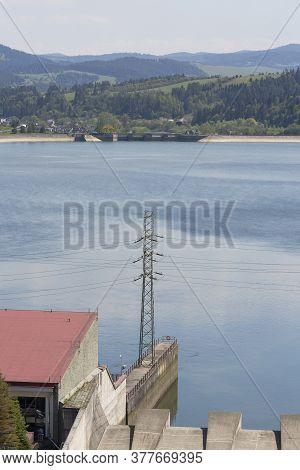 Niedzica Dam, Great Water Dam. It Is Located In The Pieniny, Dams The Waters Of The Dunajec, Creatin