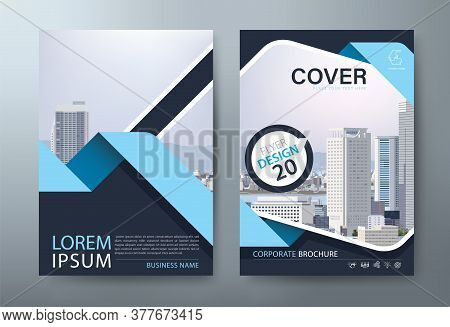 Annual Report Brochure Flyer Design Template Vector, Leaflet, Presentation Book Cover Templates, Lay