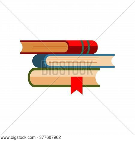 Stack Of Books. Pile Of Encyclopedias. Can Be Used For Topics Like Bookstore, Library, Education