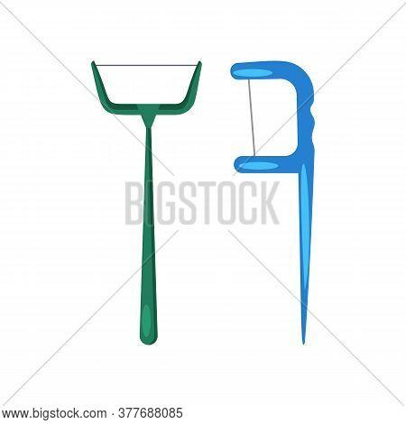 Dental Floss Illustration. Bathroom, Hygiene, Brush. Dental Care Concept. Illustration Can Be Used F