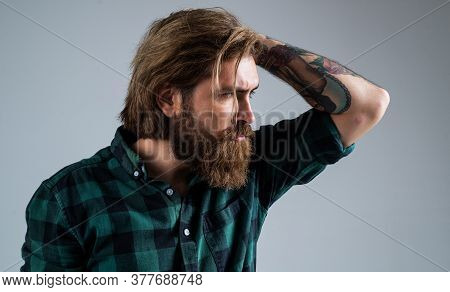 Oh My God. Fashion Model Wear Casual Clothes. Male Beauty Standard. Looking So Trendy. Confident And