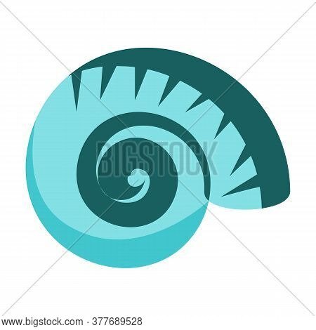 Blue Sea Shell Illustration. Mollusc, Ocean, Decoration. Nature Concept. Illustration Can Be Used Fo