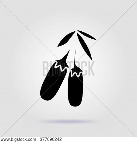 Dogwood Black Icon Isolated On A Gray Background With Soft Shadow