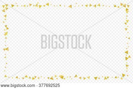 Gold Dust Vector Transparent Background. Anniversary Shine Backdrop. Golden Shard Art Pattern. Shard