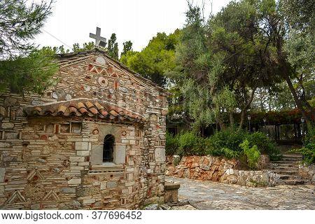 Charming Old Orthodox Church Of Church Of Saint Demetrios Loumbardiaris. Located On Filopappou Hill.