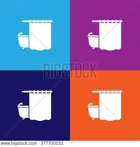 Shower Curtain. Bathroom And Sauna Element Icon. Signs, Outline Symbols Collection Icon For Websites