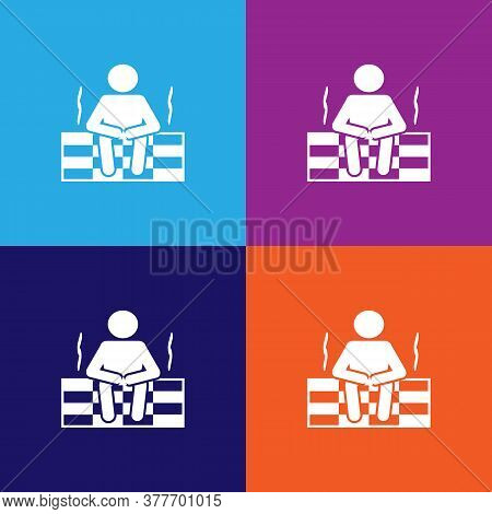 Man In The Sauna Icon. Bathroom And Sauna Element Icon. Signs, Outline Symbols Collection Icon For W